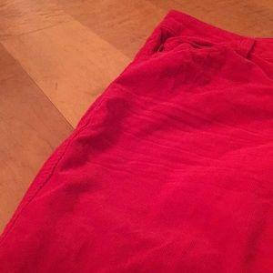 Tripp nyc Pants - Bright red velvet men's jeans